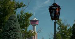 Rack focus of Calgary Tower, 4K Stock Footage