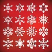 vector snowflake collection - stock illustration