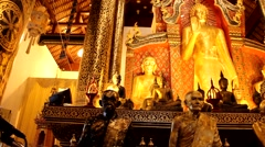 Temples in ChiangMai.Thailand.6 Stock Footage