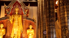 Temples in ChiangMai.Thailand.5 Stock Footage