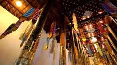 Temples in ChiangMai.Thailand.4 Stock Footage