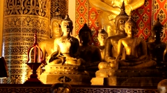Temples in ChiangMai.Thailand.3 Stock Footage