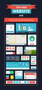 Website page template. web design Stock Illustration
