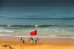 View of Agadir coastline Stock Photos