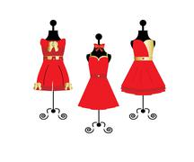 Stock Illustration of red dress