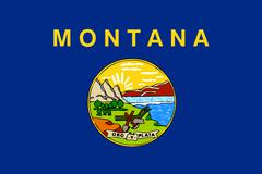 Stock Illustration of montana state flag