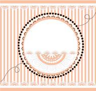 template greeting card, vector illustration - stock illustration
