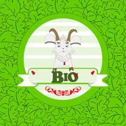 Cute goat Stock Illustration