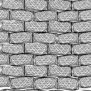 Old bricks. seamless. doodle style Stock Illustration