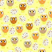 Seamless pattern with easter eggs and chickens Stock Illustration