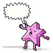 Singing starfish cartoon Stock Illustration