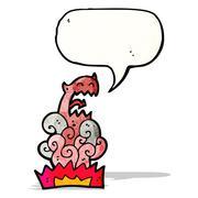 Devil appearing cartoon Stock Illustration