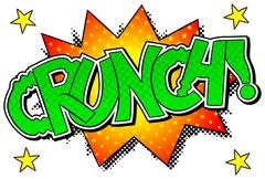 Comic sound effect crunch Stock Illustration
