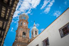Stock Photo of Mexico, Jalisco, Puerto Vallarta, Tower of the Church of Our Lady of Guadalupe