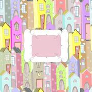 City background frame Stock Illustration