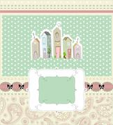 Home sweet home card. vector illustration Stock Illustration