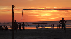 Beach volleyball volei de praia Stock Footage