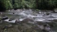 River from La Fortuna Waterfall Stock Footage