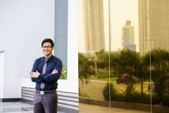 portrait proud happy confident asian office worker - stock photo