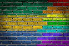 Stock Illustration of dark brick wall - lgbt rights - gabon