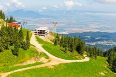 View from postavarul massif, poiana brasov, romania Stock Photos