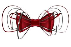 Stock Illustration of Digitally generated red shiny bow