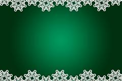 Christmas themed snow flake frame - stock illustration