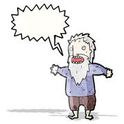 Stock Illustration of shouting old man cartoon
