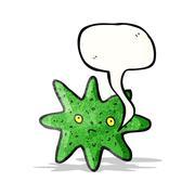 Stock Illustration of starfish cartoon character