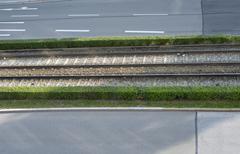 Stock Photo of Germany, Bavaria, Munich, Street Dachauerstrasse and tramway tracks