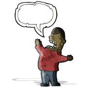 cartoon loud man - stock illustration