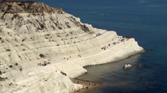 Stair of the Turks (Scala dei Turchi). Sicily, Italy. - stock footage