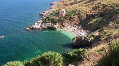 Sicilian Coast at Zingaro Nature reserve. Italy. Stock Footage