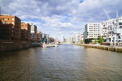 Stock Photo of Germany, Hamburg, HafenCity, Sandtorhafen, Modern residential buildings