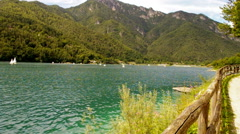 Lake. Panoramic view. Stock Footage