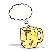 Stock Illustration of dirty old mug cartoon