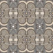 seamless geometry vintage pattern, ethnic style ornamental backg - stock illustration