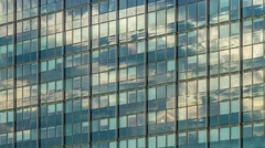 4K Clouds on glass Facade - modern architecture in Hamburg DSLR timelapse Stock Footage