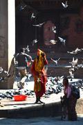 Holy sadhu man in kathmandu, nepal Stock Photos