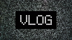 Video blog or Vlog concept Stock Footage