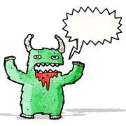 Stock Illustration of shouting monster cartoon