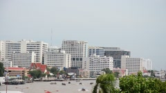 Viewpoint Chao Phraya River from Prang of Wat Arun in Bangkok Thailand Stock Footage