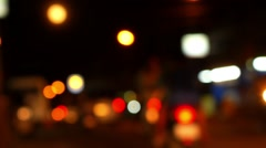 Out of Focus Road Traffic and Bokeh Lights. Speed up. Stock Footage