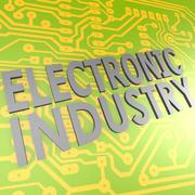 Electronic industry and pcb Stock Illustration