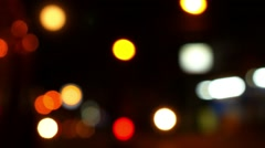 Blured Night Lights of the Road. Speed up. Stock Footage