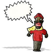 Stock Illustration of cartoon shouting man