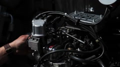 Accelerating Motor Car - stock footage