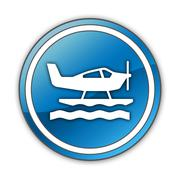 Stock Illustration of icon, button, pictogram seaplane