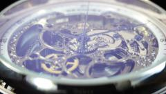 Mechanical Watch, close up. Quartz - stock footage