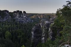 Germany, Saxony, Saxon Switzerland, View from the Bastei - stock photo
